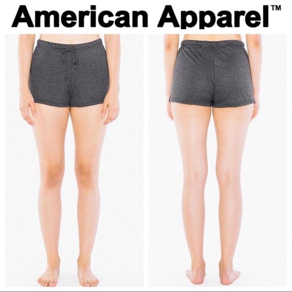 American Apparel Womens Tri-Blend Jersey Running Short